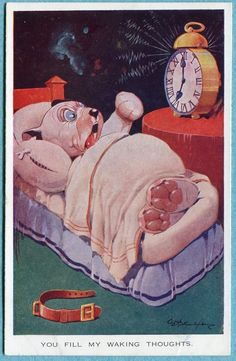 "Bonzo postcard ""You fill my waking thoughts"" by G. E. Studdy, | eBay"
