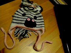 Zebra hat To My Daughter, Winter Hats, Crochet Hats, How To Make, Fashion, Knitting Hats, Moda, Fasion, Trendy Fashion