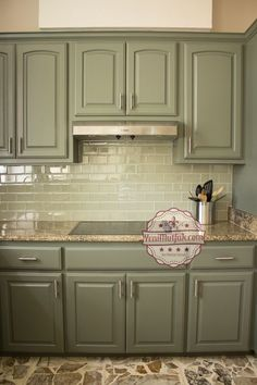 New kitchen colors green cabinets laundry rooms Ideas Green Kitchen Cabinets, Kitchen Cabinet Colors, Painting Kitchen Cabinets, Kitchen Paint, Kitchen Redo, Kitchen Colors, New Kitchen, Oak Cabinets, Kitchen Ideas