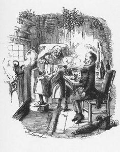 §§§ . Scrooge and Bob Cratchit ~ John Leech 1843