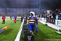 Hori the BOP mascot surveying the scene in front of him in the rain .... Southland Stags 34 - 23 Bay of Plenty. ITM Cup rugby action at Rugby Park, Invercargill. August 15, 2014.