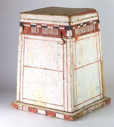 * A rare Egyptian Wood & Polychrome Divine Animal Box, 26th Dynasty, ca. 664 - 525 BC