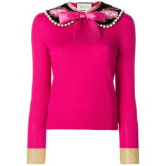 Gucci Peter pan collar cashmere sweater (37.415 ARS) ❤ liked on Polyvore featuring tops, sweaters, pink, bow top, gucci sweater, peter pan collar top, peter pan collar sweater and pink cashmere sweater