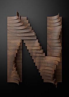 20 ejemplos de letras decorativas hechas con cartón y otros materiales