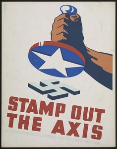 """georgy-konstantinovich-zhukov:  """"Stamp Out the Axis!"""" - US Navy Poster, World War II (Library of Congress)"""