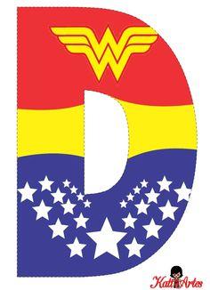 Birthday woman party free printable Ideas for 2019 Wonder Woman Birthday, Wonder Woman Party, Wonder Woman Logo, Birthday Woman, Alphabet, Hero Girl, Superhero Birthday Party, Ladies Party, Party Time
