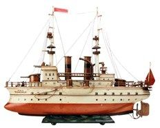 The Märklin 'first series' tinplate toy 'HMS Terrible' which took £76,000 at Special Auction Services.