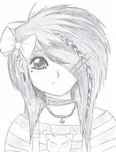 anime girl neko coloring pages emo anime girl by starfirer art