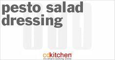 Pesto Salad Dressing from CDKitchen.com