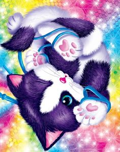 By Artist Lisa Frank. Lisa Frank Coloring Books, Lisa Frank Stickers, 80 Cartoons, Cat Drawing, Cat Art, Cats And Kittens, Cute Animals, Kitty, Pin Up