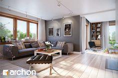 Dom w kannach - Strefa dzienna - zdjęcie od ARCHON+ Biuro Projektów - Salon - Styl Nowoczesny - ARCHON+ Biuro Projektów