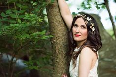Wine hairpiece on dark hair, shoot outside, boho style, red lips
