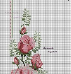 This Pin was discovered by Ayf Cross Stitch Rose, Cross Stitch Flowers, Cross Stitch Embroidery, Embroidery Patterns, Cross Stitch Designs, Cross Stitch Patterns, Free To Use Images, Bargello, Small Flowers