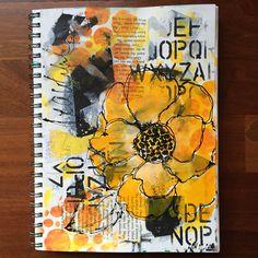by Betsy Walcheski. Mixed media. Donna Downey stencil love..