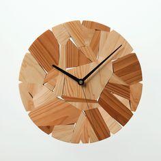 Wood chip clock Designed by Mikiya Kobayashi Material:Japanese…