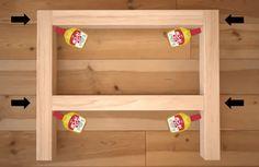 脚だけ作って既製天板をくっつけます。 材料イメージ 既製品の天板に脚を作って付けてローテーブルを作ります。 基本はボンドで接着しますが、強度を上げる場合はネジや釘などを使用して下さい。 角材をカット まずはBのパイン角材 …