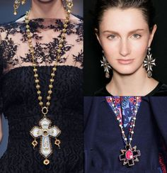 Cross necklaces and crucifix jewelery for fall 2013