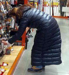 Long down coat. Soft and shiny <3