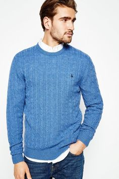 Jack Wills Marlow Merino Crew Neck Jumper