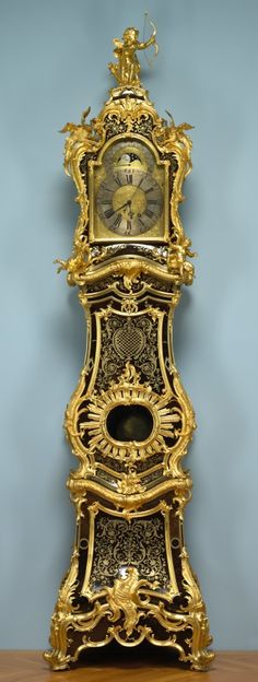 Jean-Pierre Latz (French, 1691-1754), Stollewerck (French), boulle marquetry with gilt bronze mounts, Overall: 261.60 x 69.90 x 41.90 cm (102 15/16 x 27 1/2 x 16 7/16 inches). John L. Severance Fund 1949.200