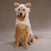 Lil' Sheep Dog Halloween Costume, Ram Costumes for Dogs, Small & Large Sheep Halloween Outfit