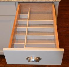 Neat Little Nest: DIY Kitchen Drawer Dividers #DIY #Cheap #Easy #Custom #Organize