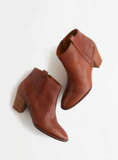 """Madewell """"Billie"""" Fashion Ankle Boots in Pecan leather 7.5"""
