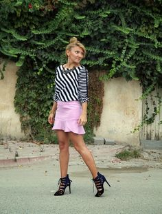 mini skirt , fashion