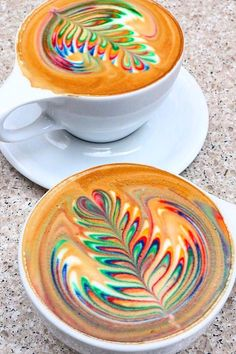 Colorfully Caffeinate With This Hypnotic Tie-Dye Latte