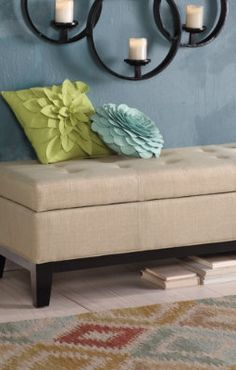 Storage Ottoman. Perfect for storing DVDs and other items in the living room