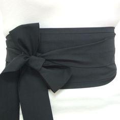 Fabric Black Cotton OBI Belt Japanese Geisha Kimono Style Waist Sash TIE Cincher   eBay