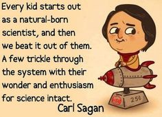 carl sagan, science, kids