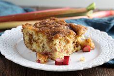 Double Crumb Rhubarb Coffee Cake - Chocolate With Grace Rhubarb Coffee Cakes, Rhubarb Desserts, Spring Desserts, Rhubarb Recipes, Rhubarb Bars, Rhubarb And Custard, Cake Recipes, Dessert Recipes, Dessert Ideas