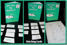 Dr Seuss are you my mother activities Dr Seuss Activities, Father's Day Activities, Preschool Books, Kindergarten Activities, Dr Seuss Game, Dr Seuss Week, Dr Suess, Student Teaching, Teaching Reading