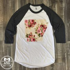 Shabby Chic and oh so sweet! The comfiest baseball tee you'll ever own.