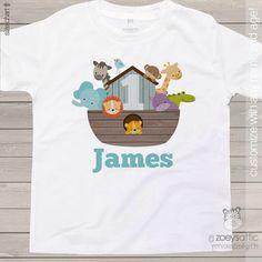 Birthday shirt any age Noah's Ark animal theme birthday party shirt - perfectly adorable by zoeysattic on Etsy https://www.etsy.com/listing/235096982/birthday-shirt-any-age-noahs-ark-animal                                                                                                                                                                                 Más