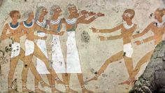 Tomb of Antefoqer (TT60), reign of Amenemhat I and Senuseret I: female dancers © OSIRISNET.NET