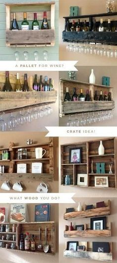 Reclaimed Pallet Shelves. Genius and beautiful! by cmr287