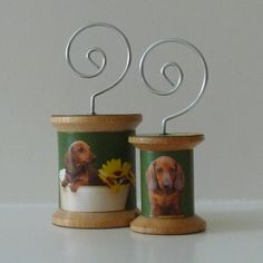 Dachshund on Green  Cool Spools by IrisBlueArtworks on Etsy, $10.00