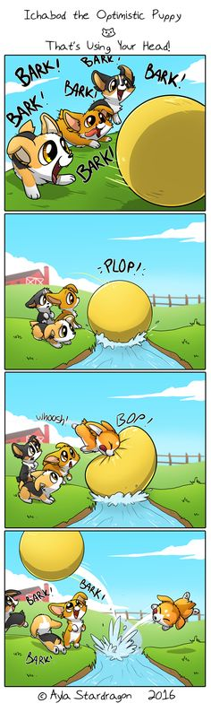 Ichabod the Optimistic Canine :: That's Using Your Head!   Tapastic Comics - image 1