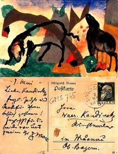 lawrenceleemagnuson:  Postcards of Franz Marc (Germany...