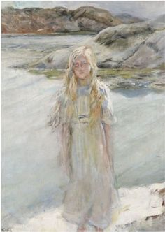 At the Waters Edge by Christian Krohg
