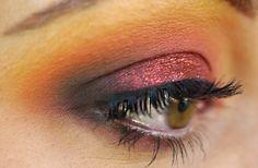 Face: Eve Pearl Salmon Concealer – Tan (Makeup Geek Store) Lancome Teint Idole Foundation – Bisque 4 (Amazon) (Sephora) (eBay) DiorSkin Natural Glow Fresh Powder (Amazon) (Sephora) (eBay) MAC Blush – Garb (eBay) Eyes: Gel Liner – Maroon (Makeup Geek Store) MAC Eyeshadow – Rule, Canary Yellow, Deep Damson,