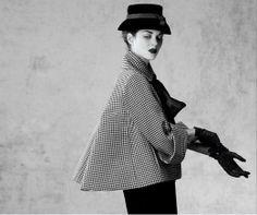 2013. Marion Cotillard wearing vintage Dior. Photo by Jean-Baptiste Mondino (B1949)