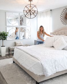 Over the last couple weeks, the hubs and I have been updating our bedroom. Bedroom Updates, Master Bedroom Chandelier, Home, Bedroom Makeover, Master Bedroom Lighting, Master Bedroom Update, Bedroom Deco, Bedroom, Master Bedroom Makeover