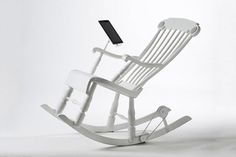 Power your ereader with this power-generating rocking chair