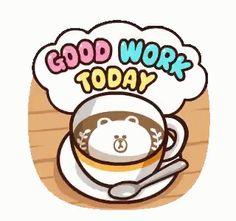LINE Characters: Pretty Phrases Stickers 13 Good Morning Coffee, Good Morning Gif, Cute Love Cartoons, Funny Cartoons, Apple Watch Custom Faces, Emoji List, Cony Brown, New Emojis, Cute Love Gif