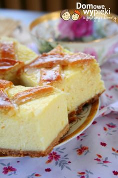 sernik krakowski z lukrem Polish Desserts, Polish Recipes, Polish Food, Cookie Recipes, Dessert Recipes, Cranberry Orange Bread, Sweet And Salty, Yummy Cakes, No Bake Cake