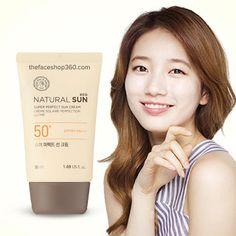 Kem chống nắng Natural Sun Eco Super Perfect Sun Cream SPF50+ PA+++ TheFaceShop Sky Shop, Sun, Cream