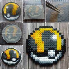 Pokemon Hyperball Masking Tape Perler Hama Beads - Beadsmeetgeeks